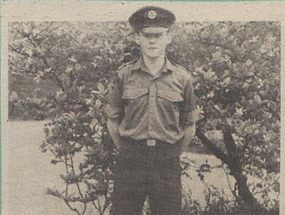 Cadet Sergeant Mark Turner in Cyprus